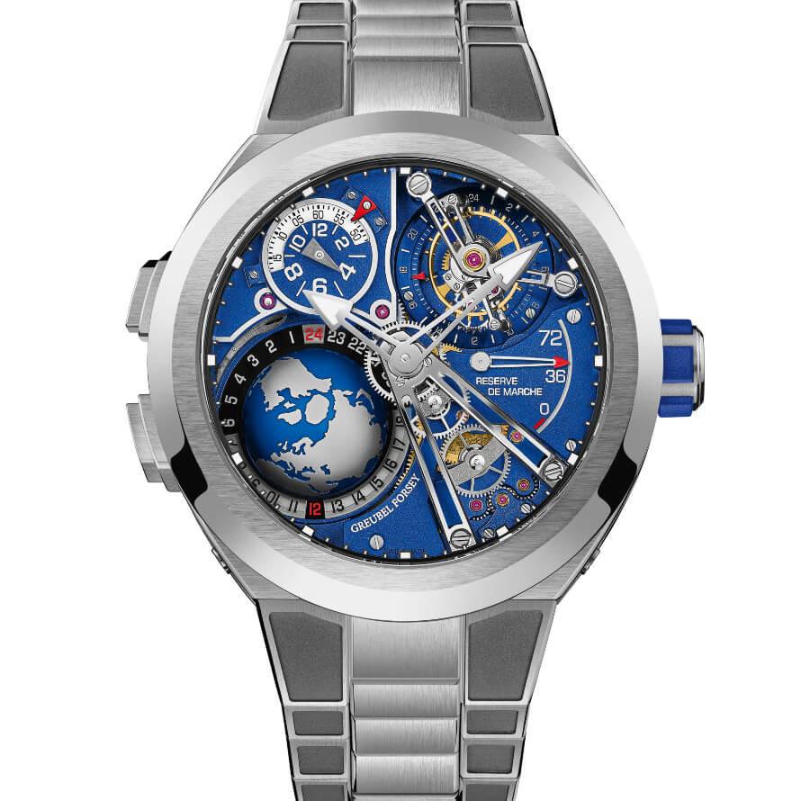 The New Greubel Forsey GMT Sport In Titanium, Blue Movement Limited Edition