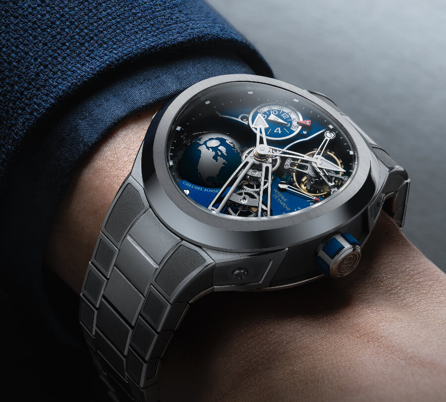 Greubel Forsey GMT Sport In Titanium, Blue Movement Limited Edition watch Review