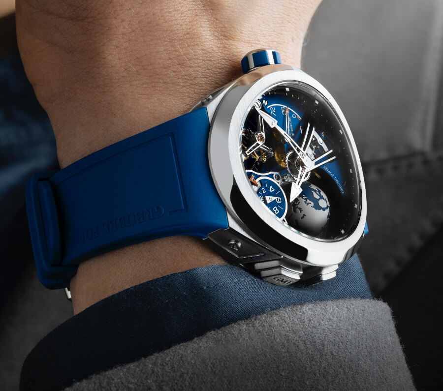 Review Greubel Forsey GMT Sport In Titanium, Blue Movement Limited Edition