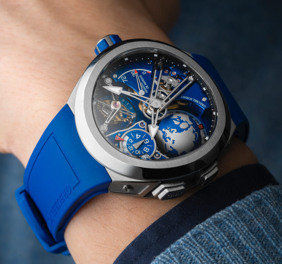 Greubel Forsey GMT Sport In Titanium, Blue Movement Limited Edition Watch
