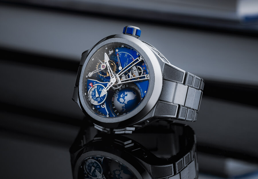 Greubel Forsey GMT Sport In Titanium, Blue Movement Limited Edition Review