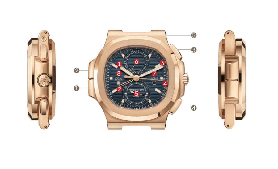 Patek Philippe Ref. 5990/1R-001 Nautilus Travel Time Chronograph Watch