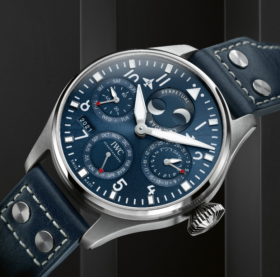 IWC Big Pilot's Watch Perpetual Calendar Blue Dial
