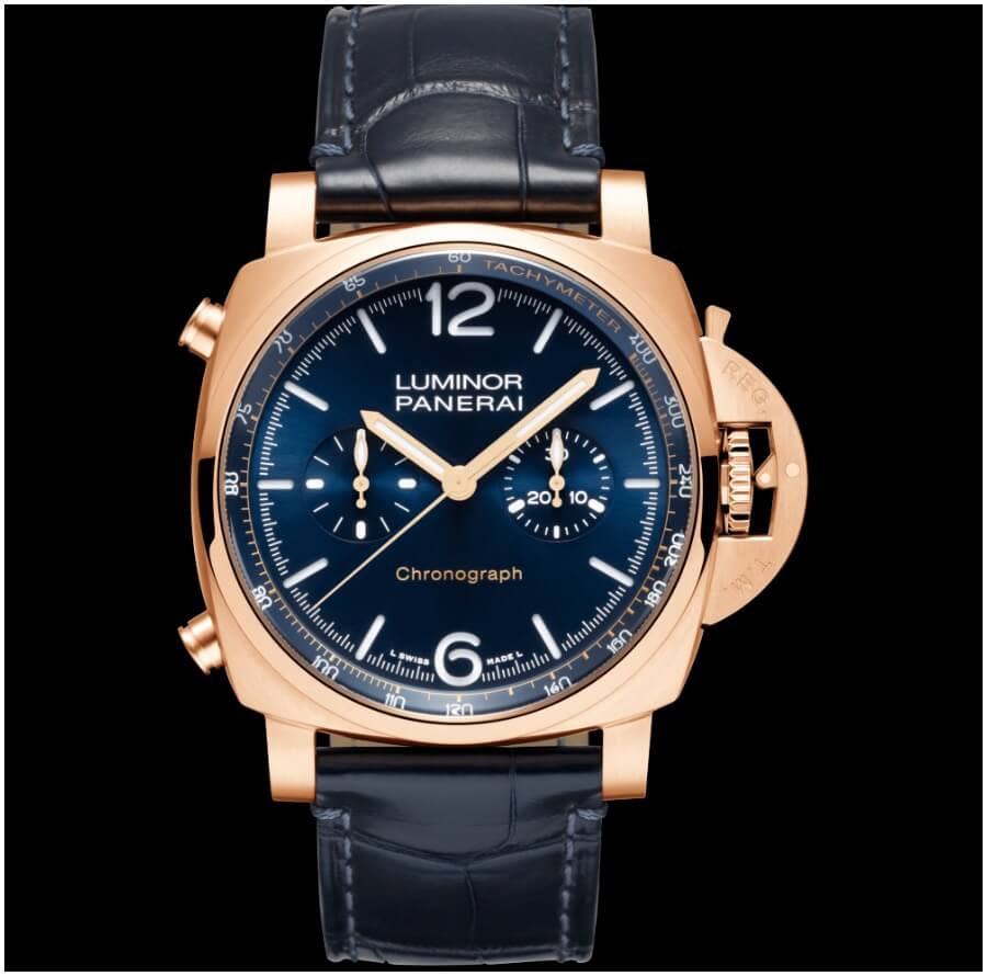 Panerai Luminor Chrono Goldtech Blu Notte PAM01111