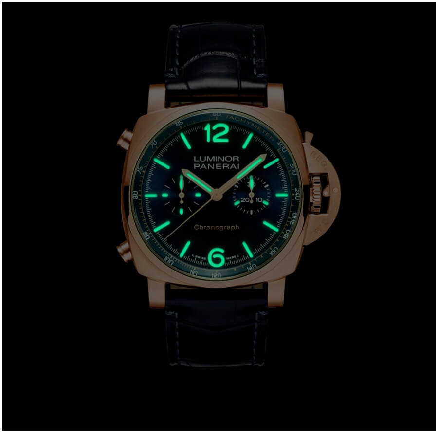 Panerai Luminor Chrono Goldtech Blu Notte