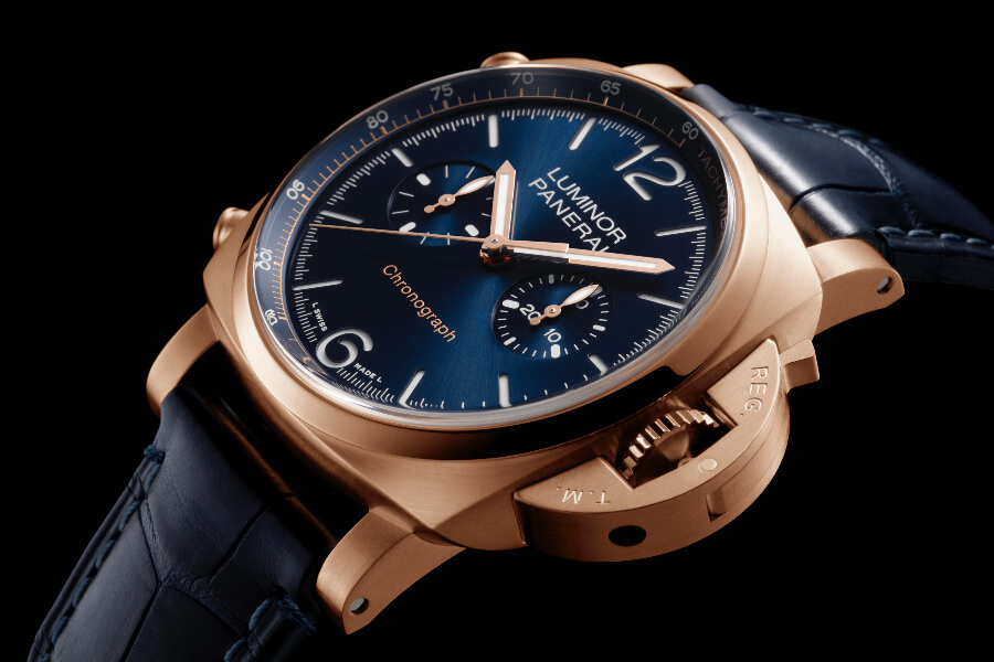 Panerai Luminor Chrono Goldtech Blu Notte Watch review