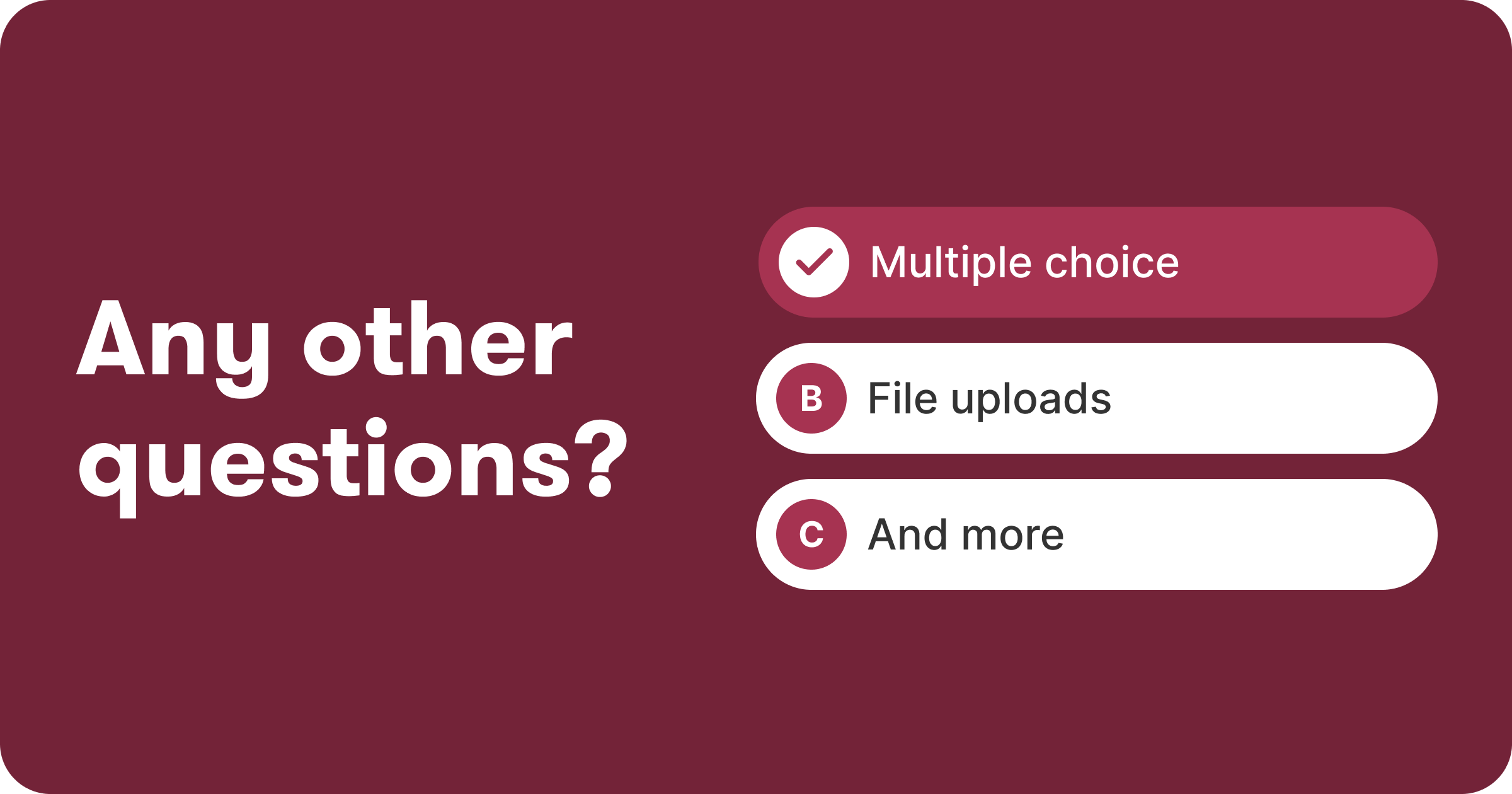 New question types for your apply form so you can get to know your candidates better
