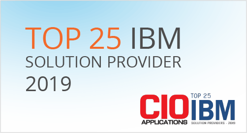CIO Applications Magazine award for Top 25 IBM Solution Providers of 2019