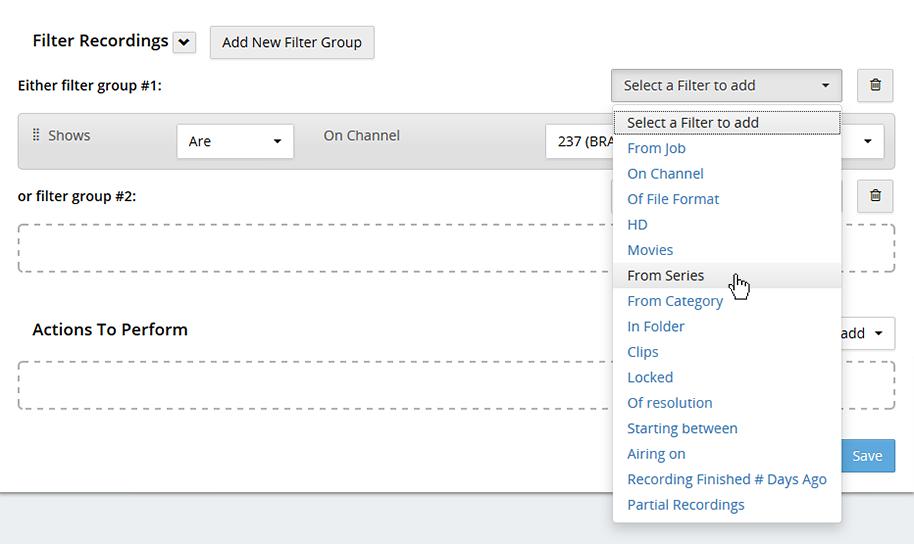 Workflow filters