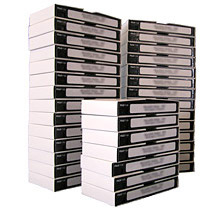 Stack of VHS tapes
