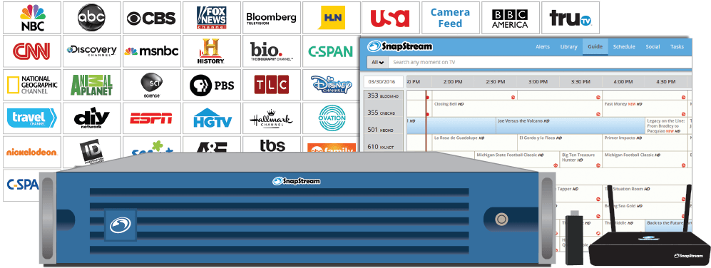 SnapStream IPTV: Distribute TV across your Organization