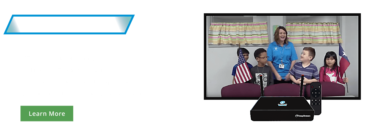 SnapStream: IPTV for any school or office, multicast live TV across the LAN, Distribute TV to any PC, laptop or TV and SnapStream STB software runs on Amazon Fire TV Stick