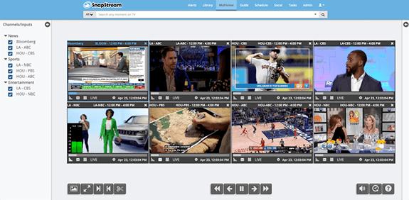 SnapStream multiviewer
