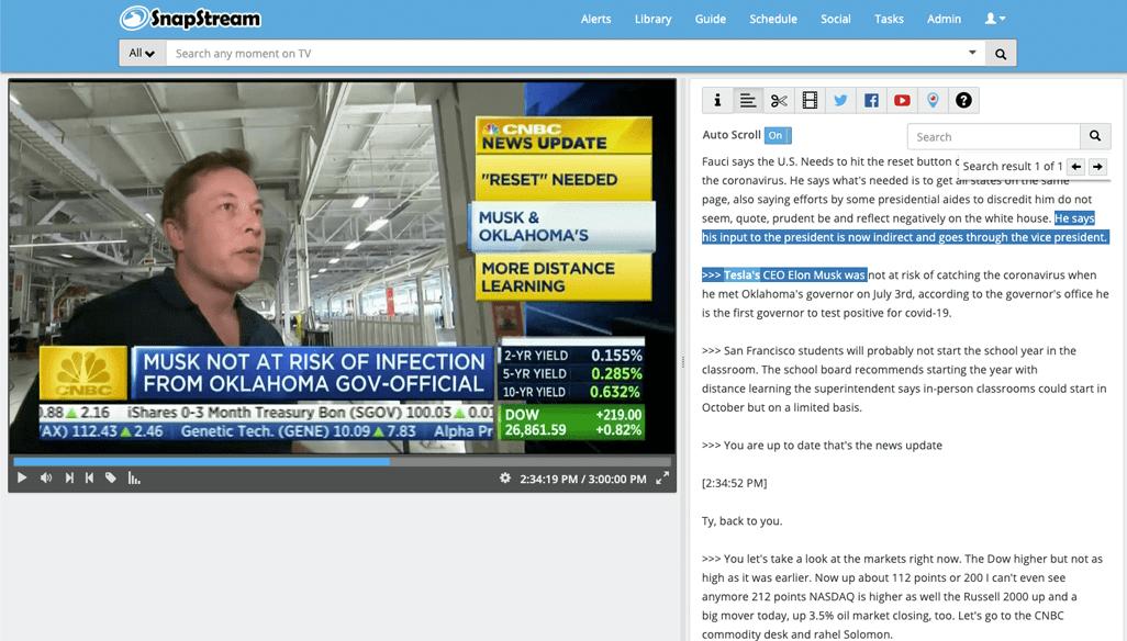 Tesla Search - SnapStream