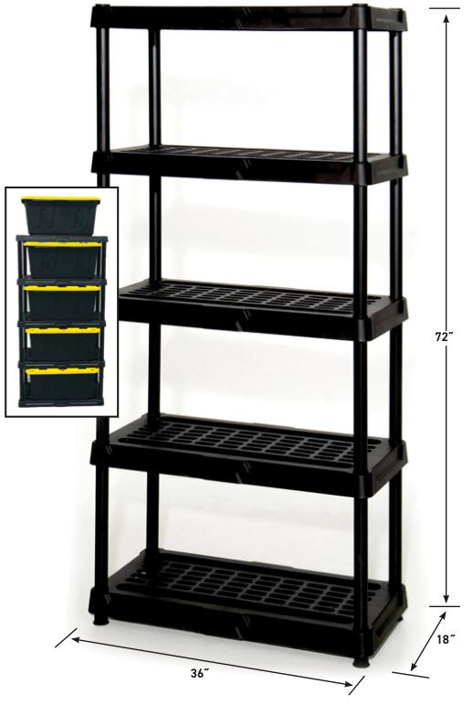 Heavy Duty 5 Tier Shelf