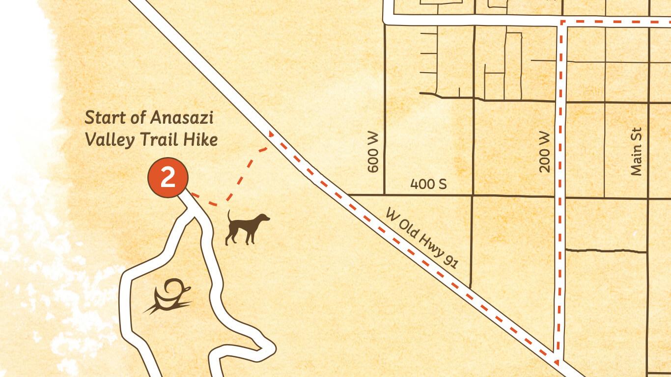 Anasazi Valley Trail hike map