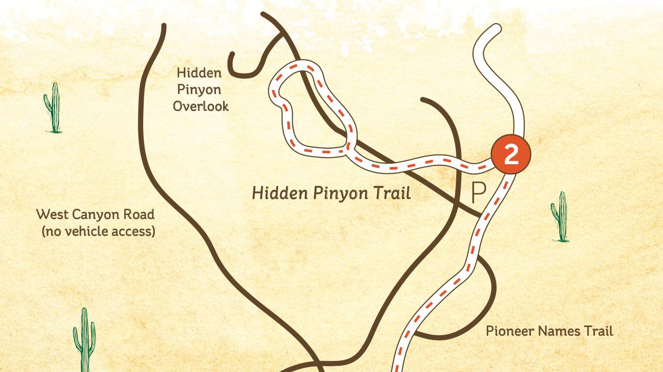 Hidden Pinyon Trail map