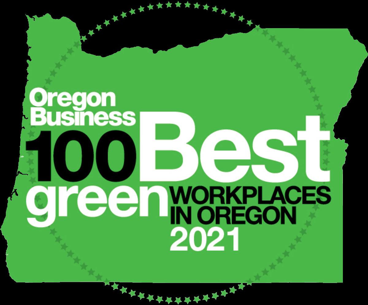 2021 Oregon 100 Best Green Logo