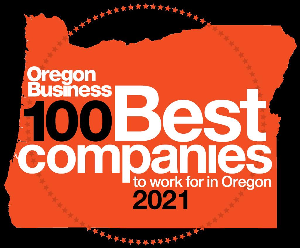 2021 Oregon 100 Best Logo