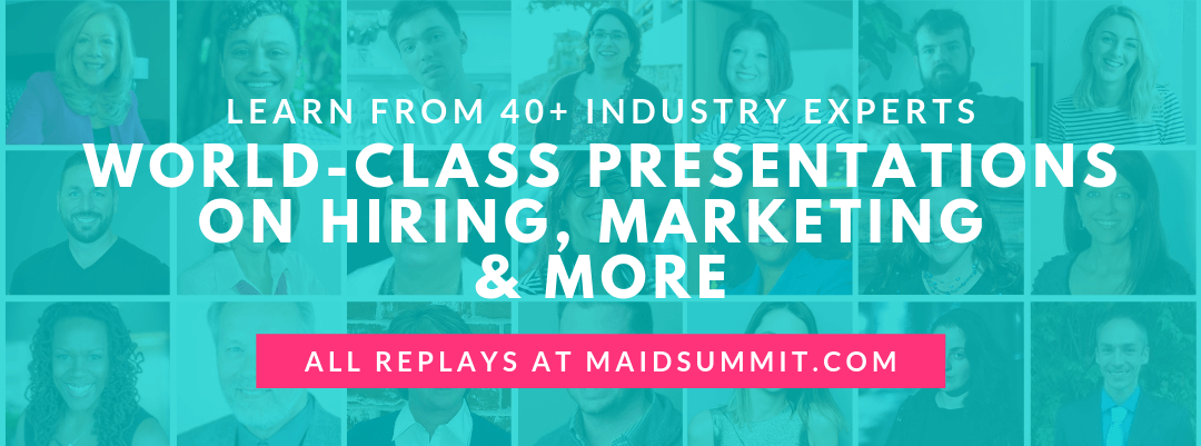 Maid Service Success Summit banner image