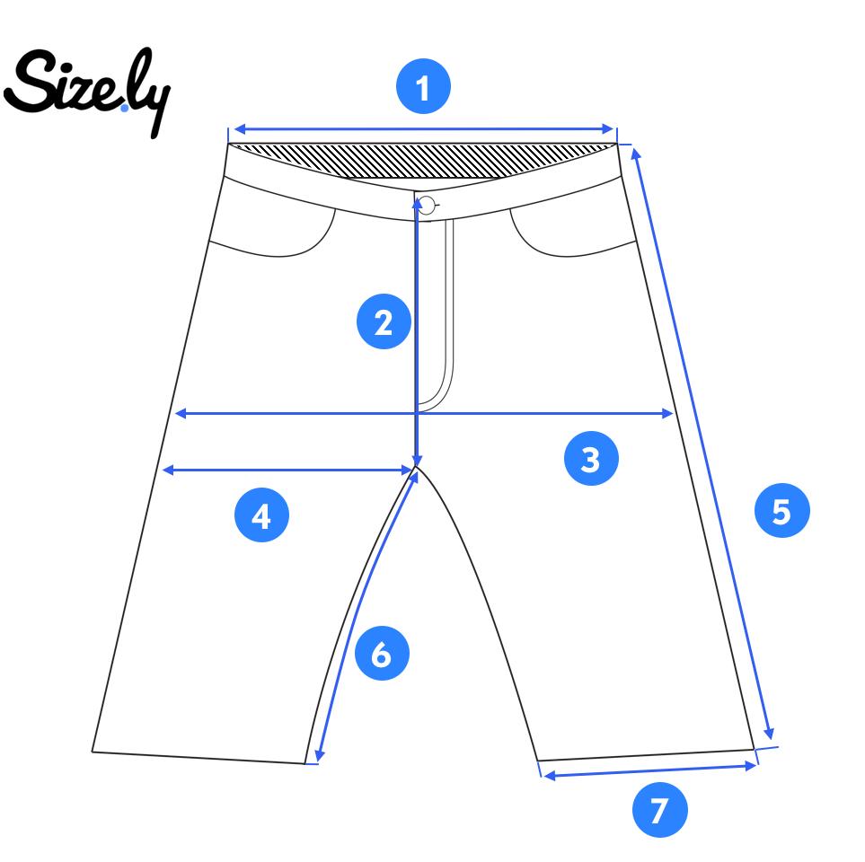 foto de un par de pantalones cortos para tomar medidas