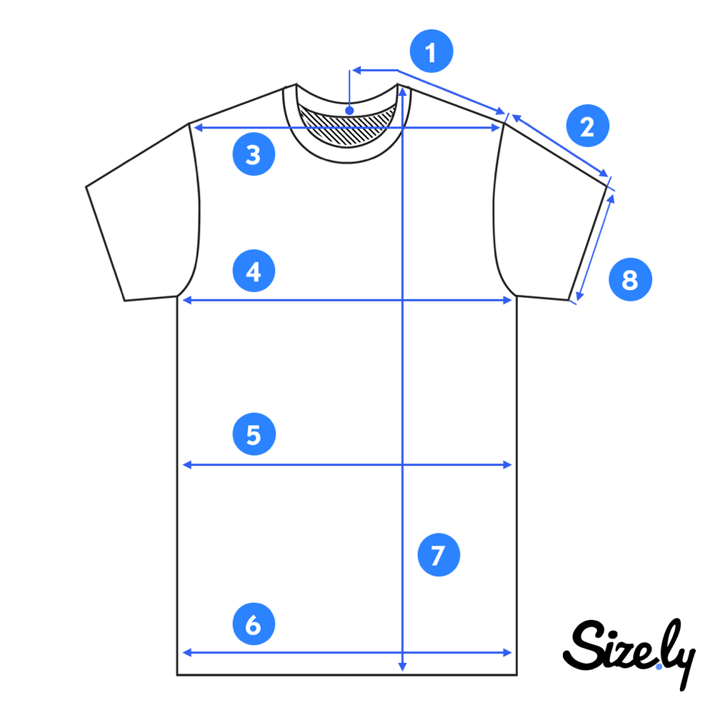 image of a T-shirt for measuring size