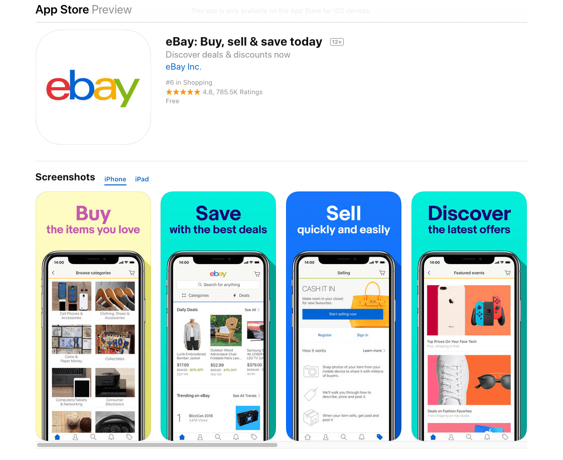 eBay App on iTunes