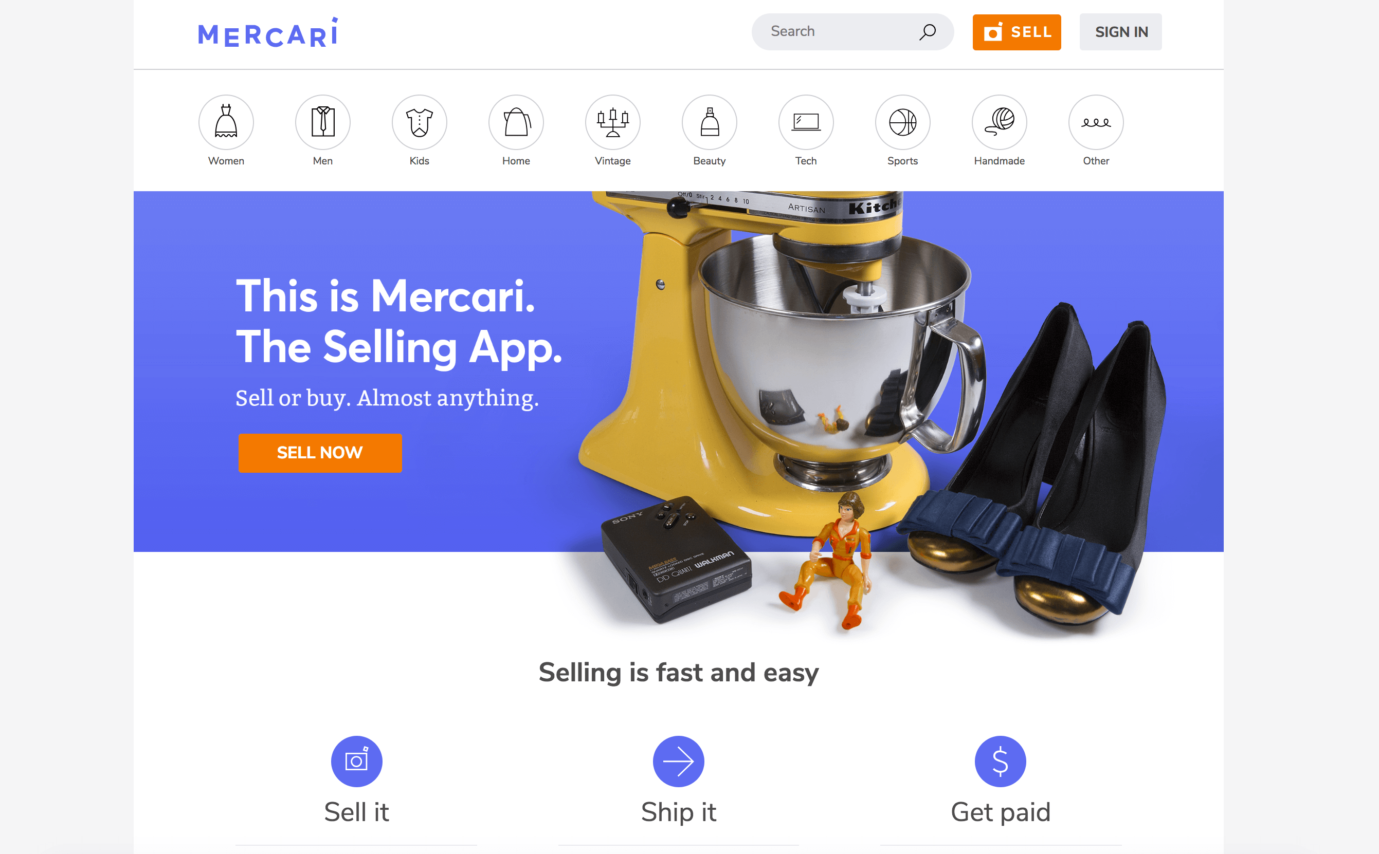 Mercari Website