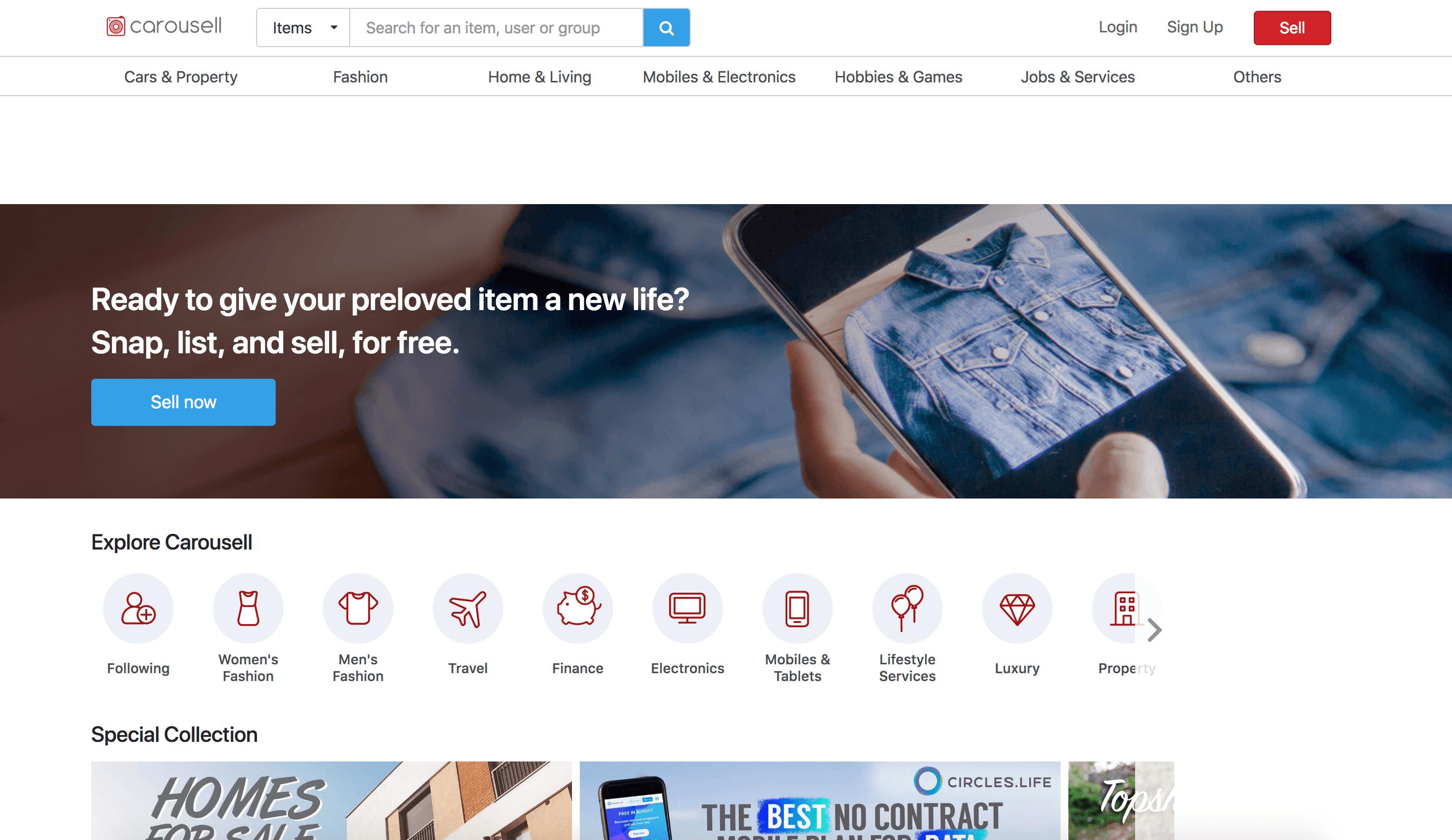 carousell website
