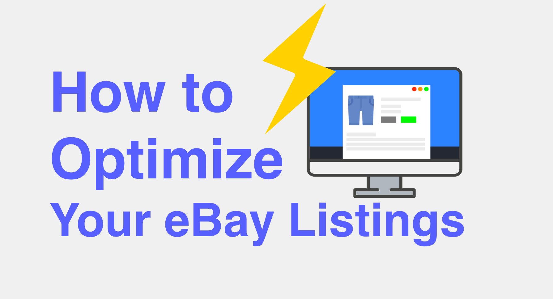 How to Optimize Your eBay Listings