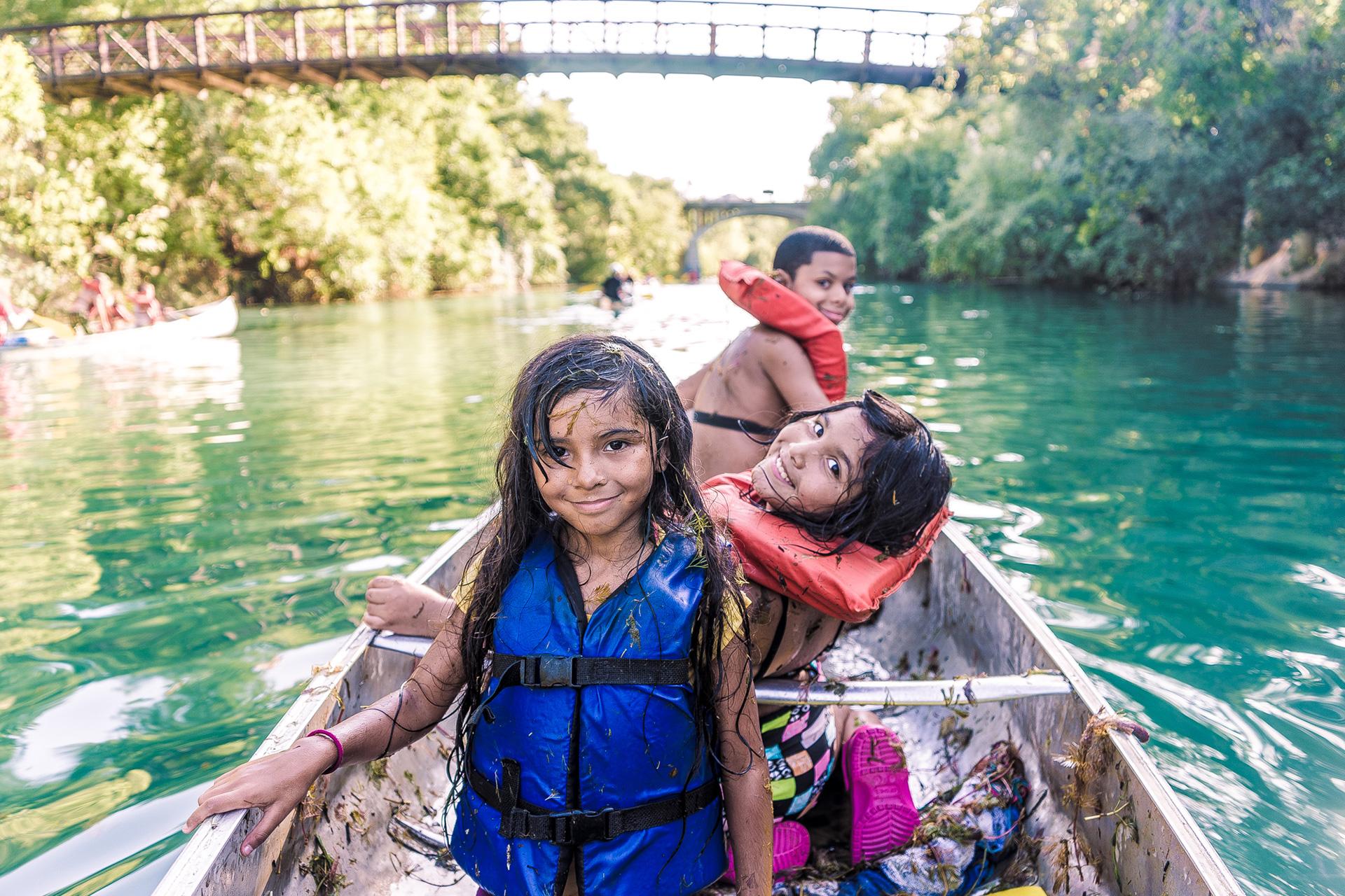 Austin Sunshine Camps Canoe Night on Lady Bird Lake
