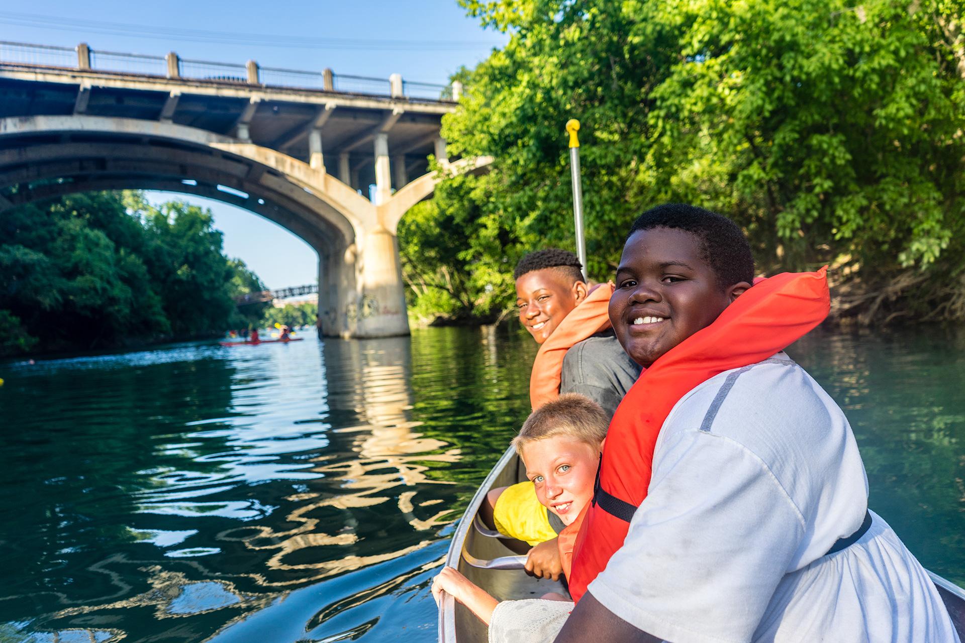 Austin Sunshine Camps Canoe Night on Barton Springs