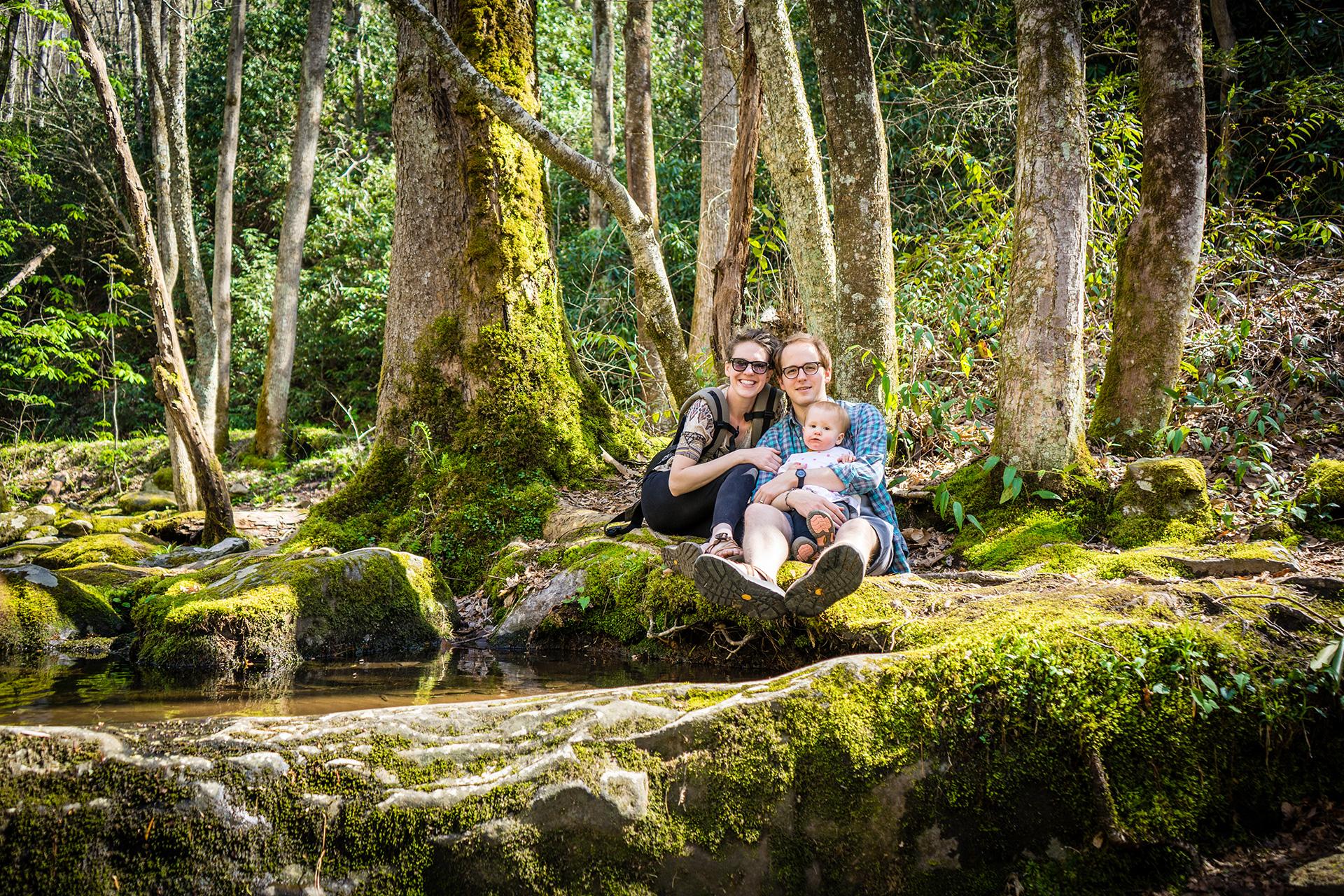 Family Portrait Smoky Mountains Hike