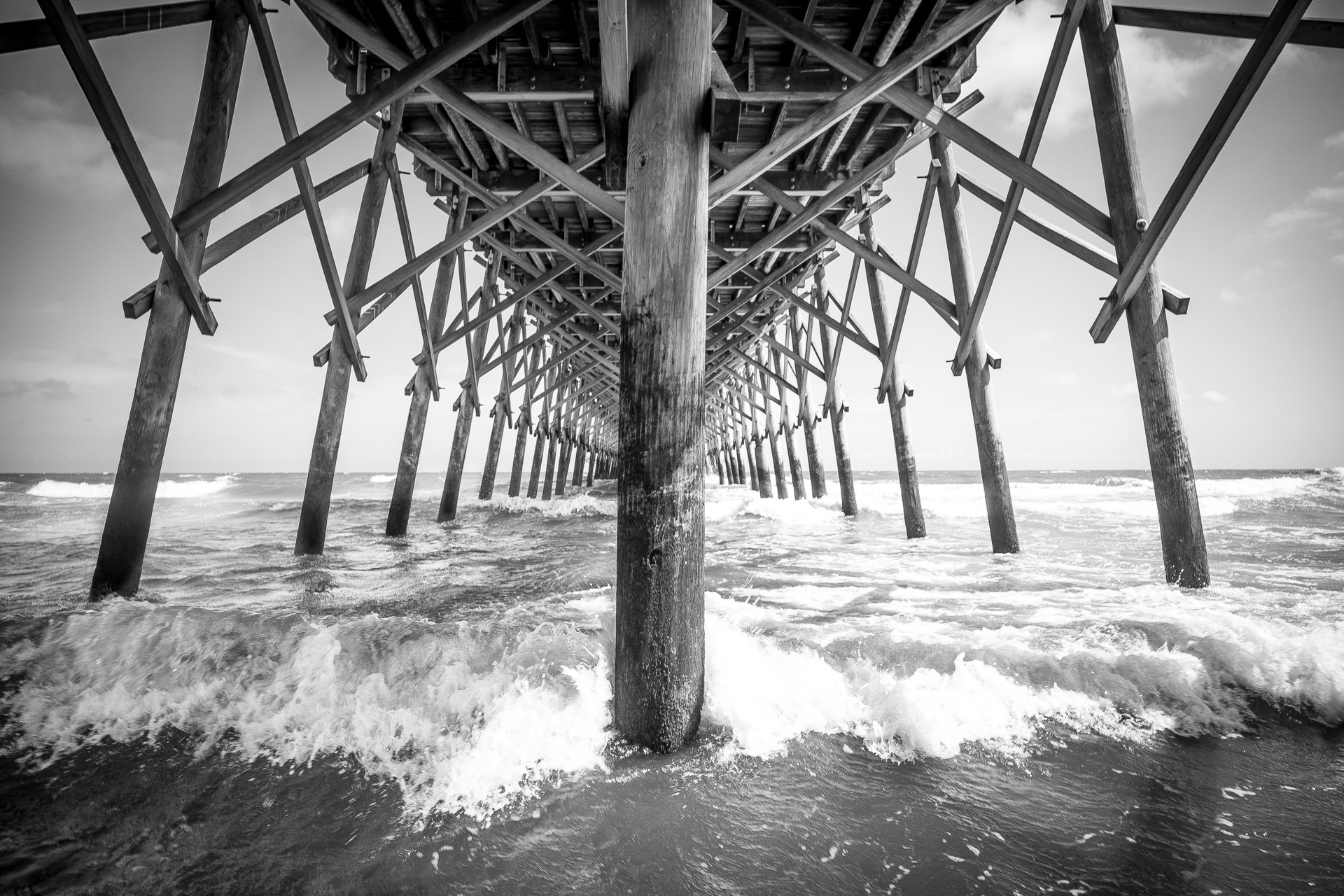Folly Beach Pier in Charleston South Carolina