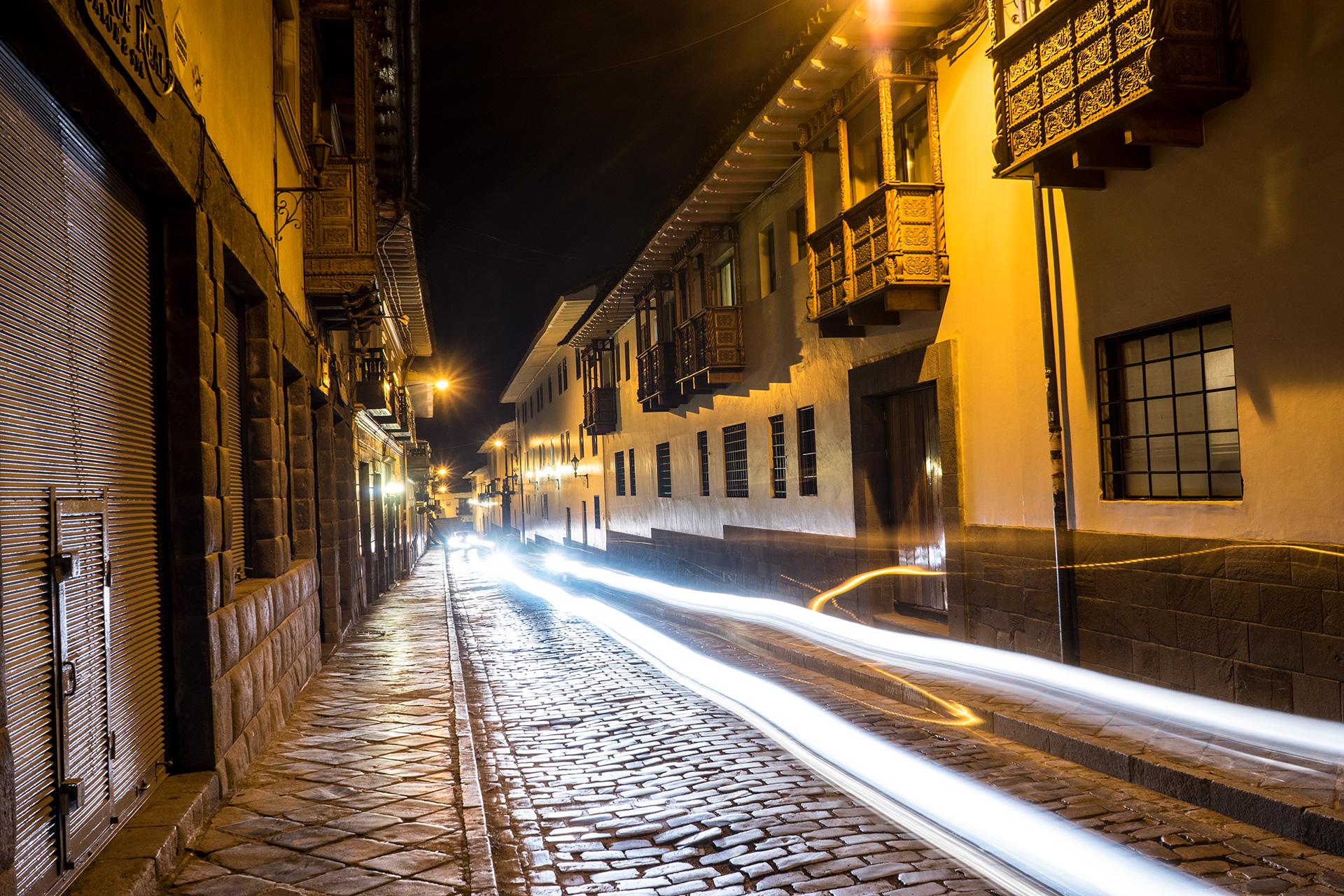 Cusco Peru Night Alley
