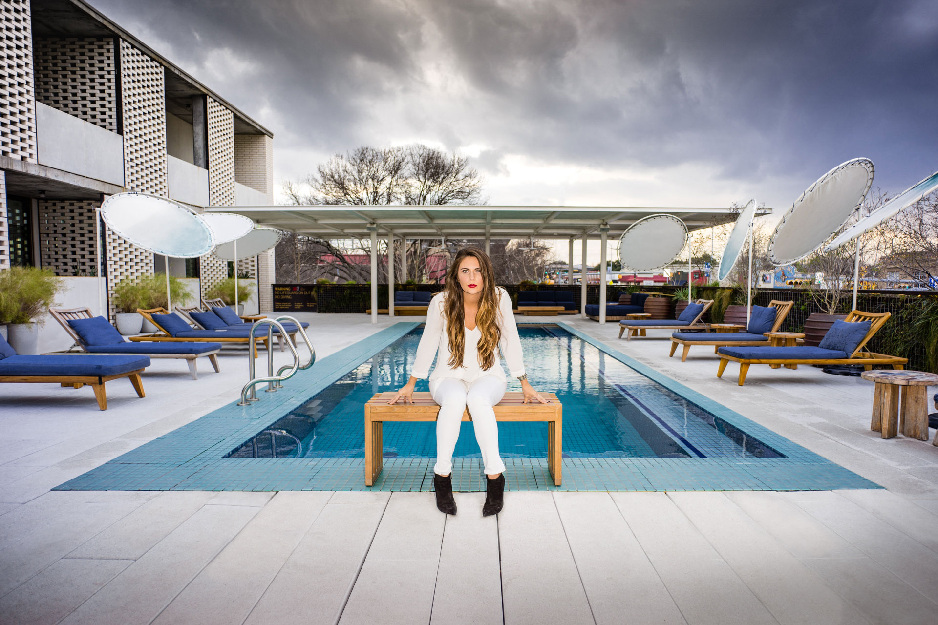 Amanda Morris Portrait South Congress Hotel Pool