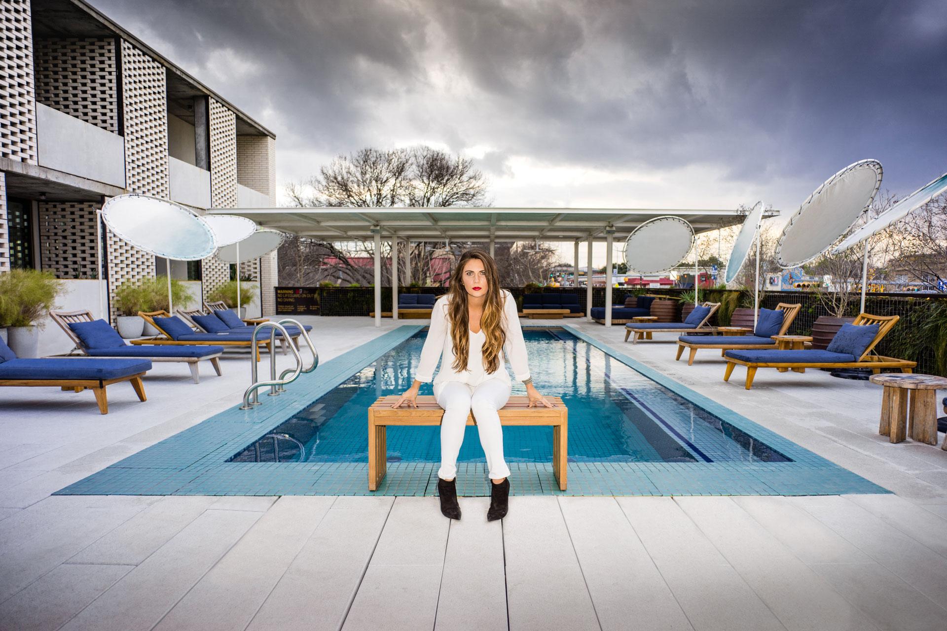 Amanda Morris Portrait South Congress Hotel Pool