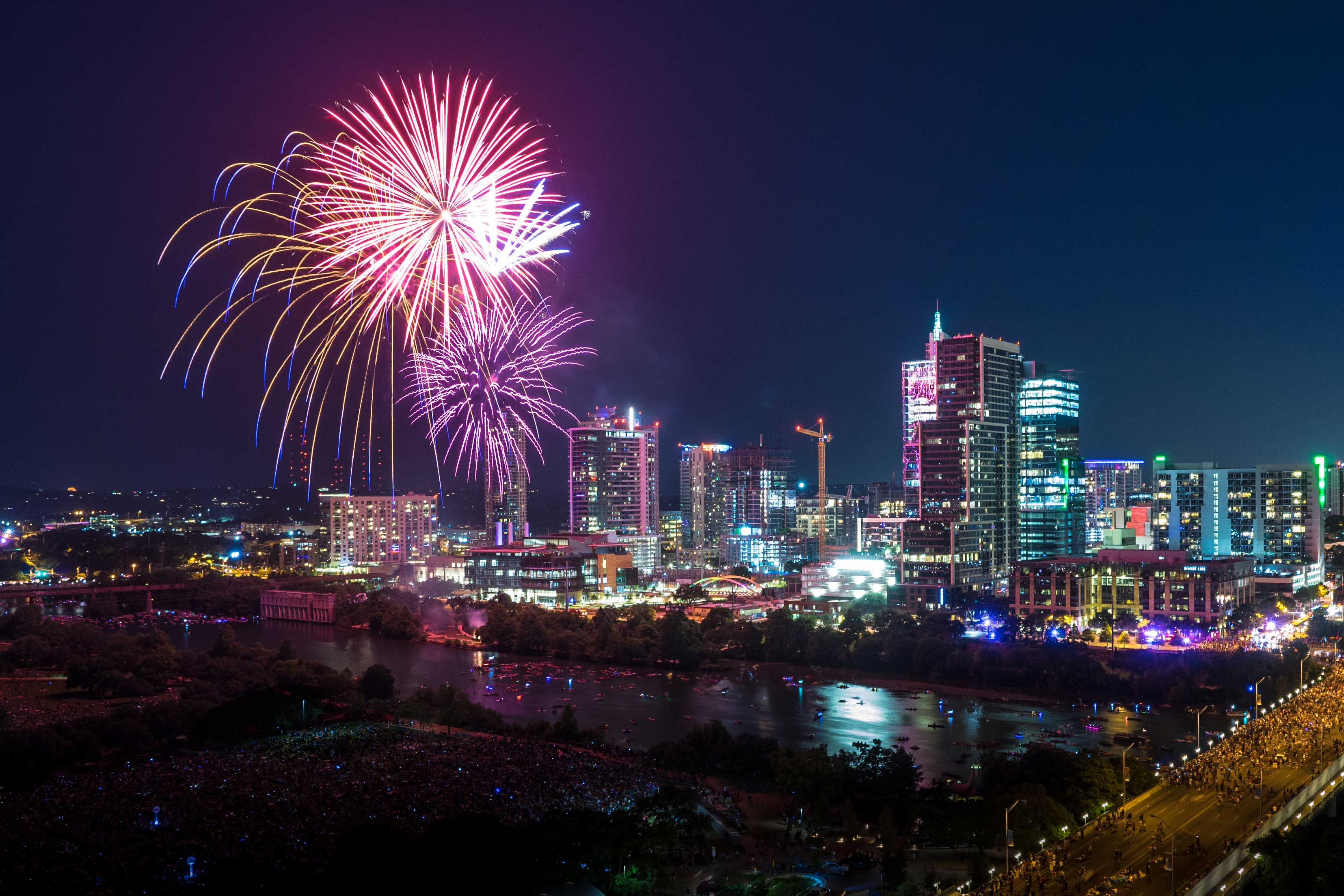 Downtown Austin Texas July 4 2017