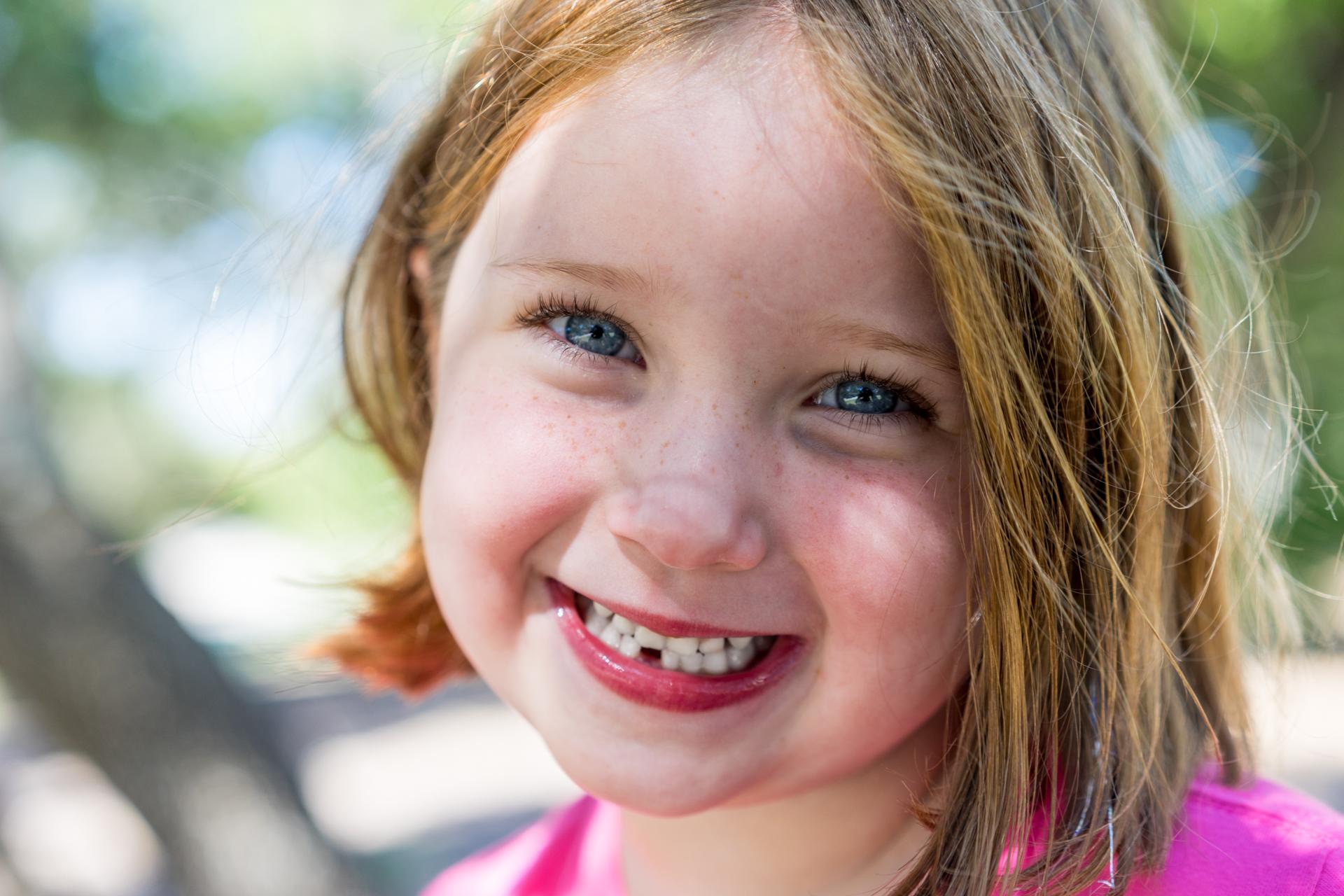 Kid portrait missing tooth