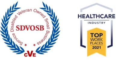 About us veteran and top place to work logos