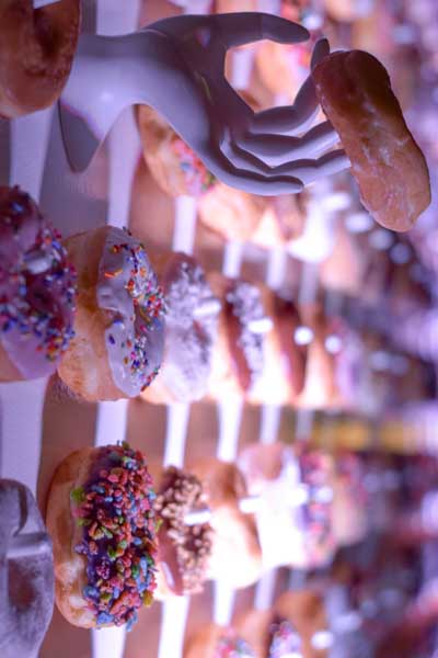 A donut wall designed by our team