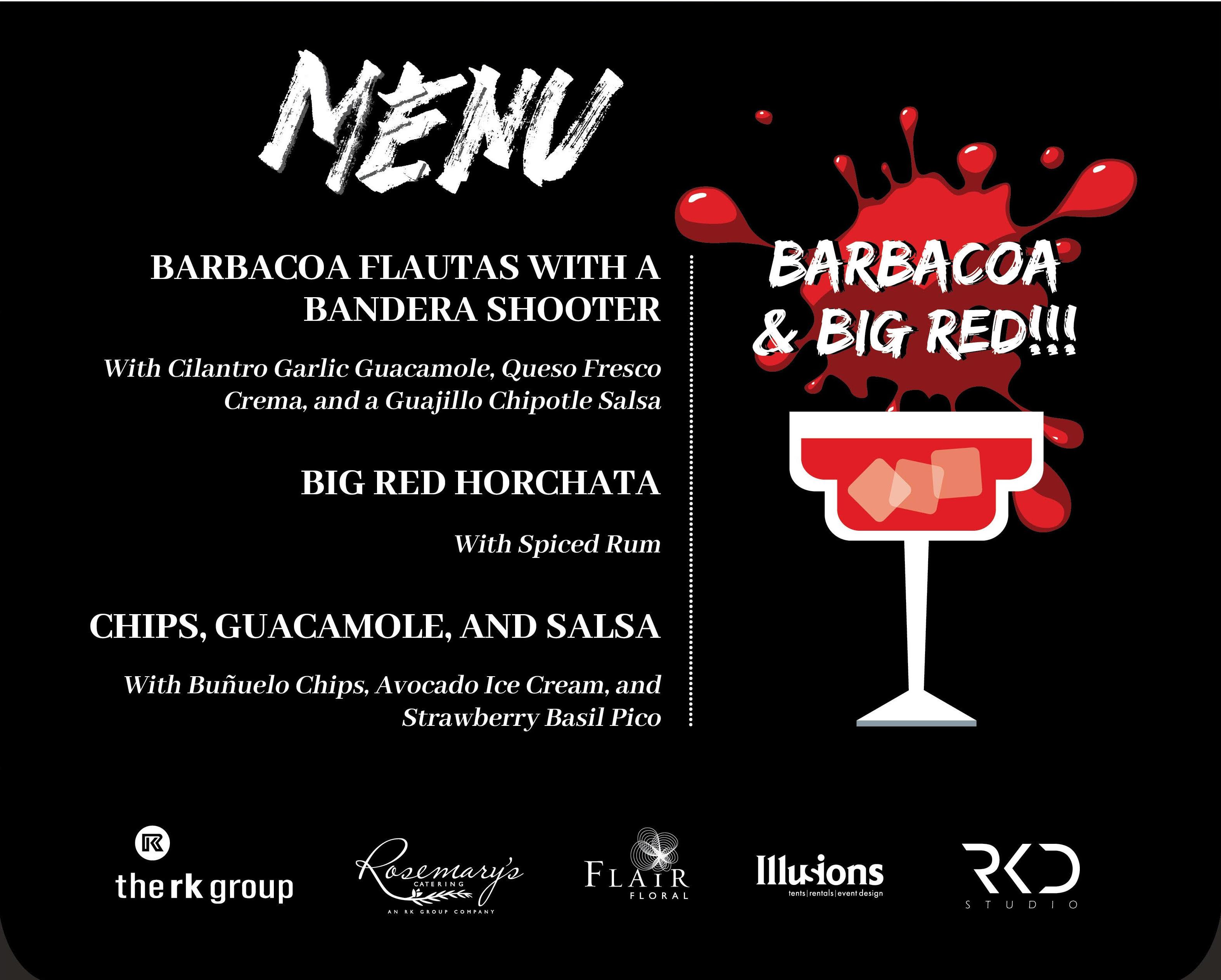Menu Design for Baracoa & Big red