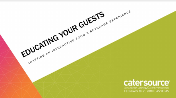 Emily's Intro Slide for her presentation at the CaterSource Convention in Las Vegas