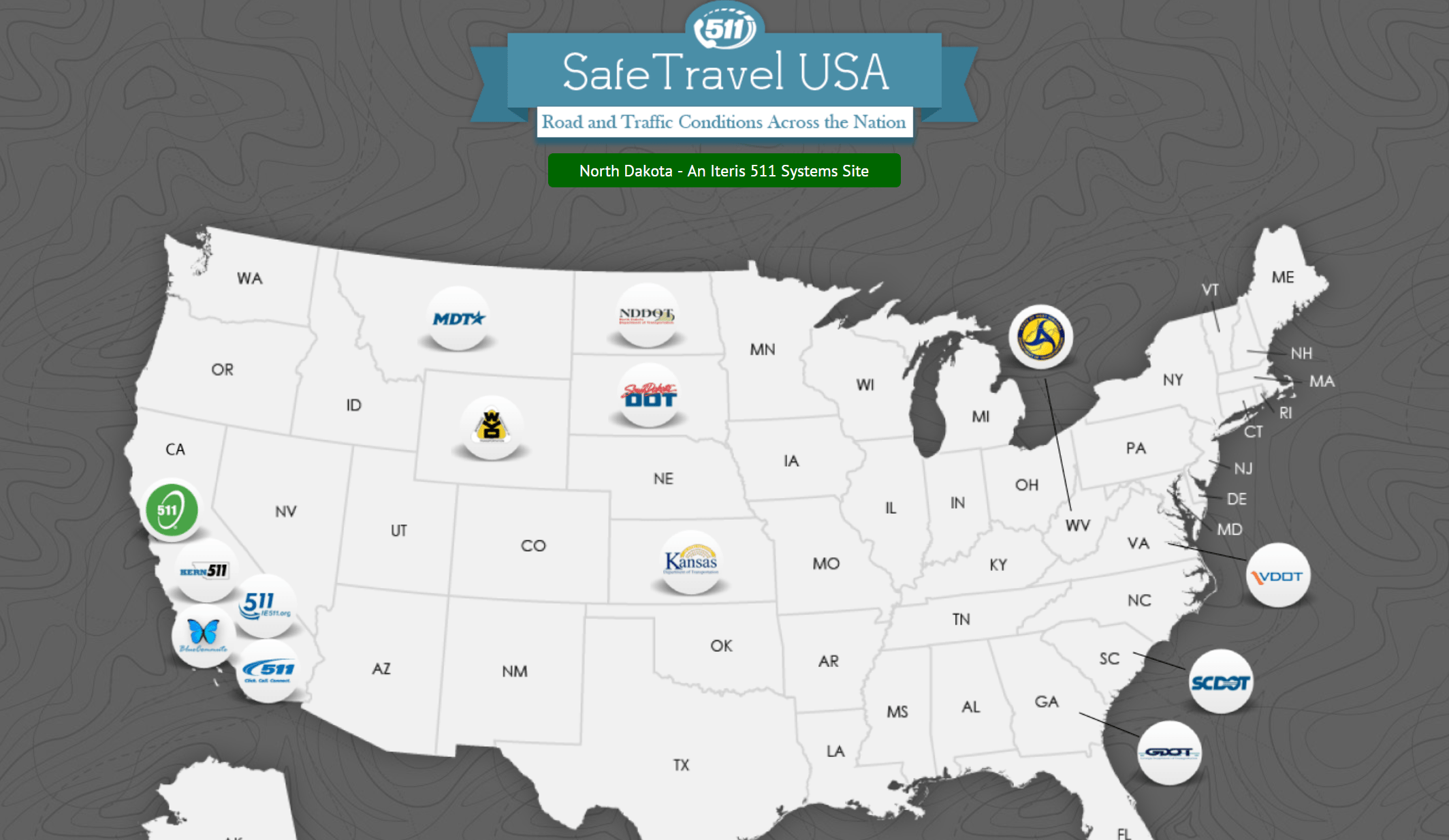 511 Safe Travel USA Map