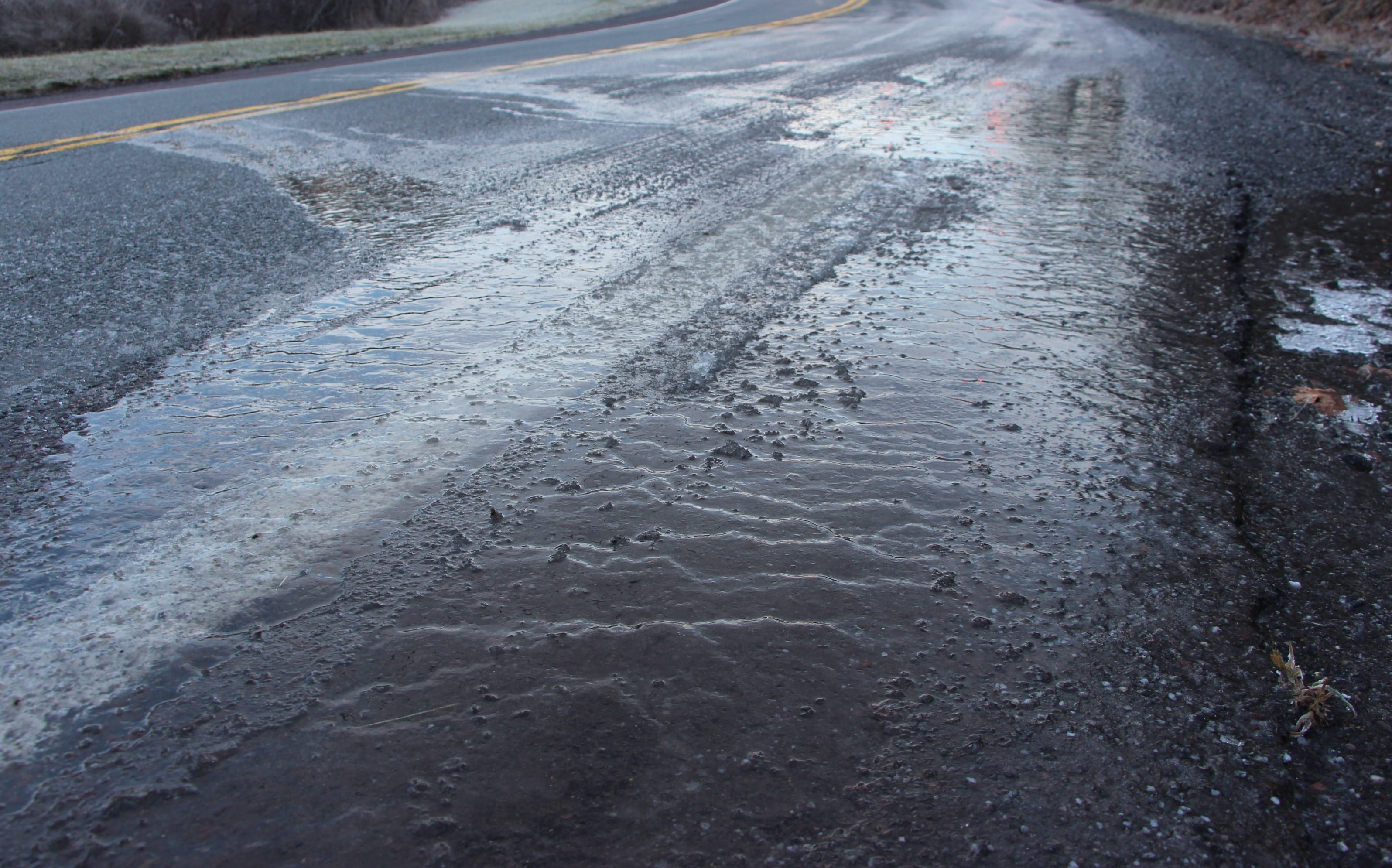Black Ice on Asphalt
