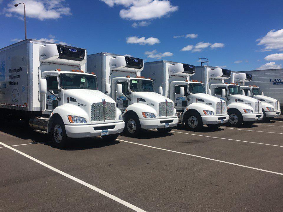 Winnesota dock truck at loading dock