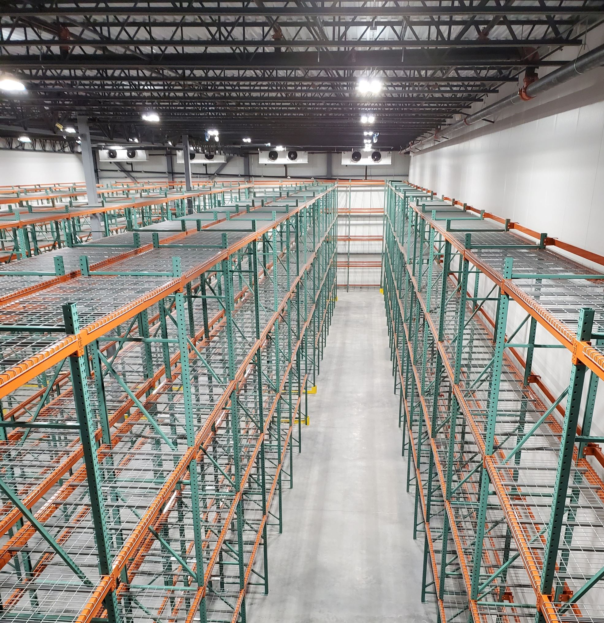 cold storage room in warehouse