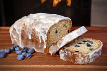 Glazed Lemon Pound Cake with Blueberries