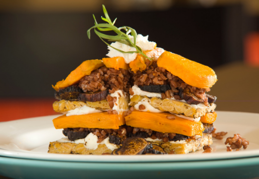 Tamari Orange Glazed Tempeh Napoleon Stack