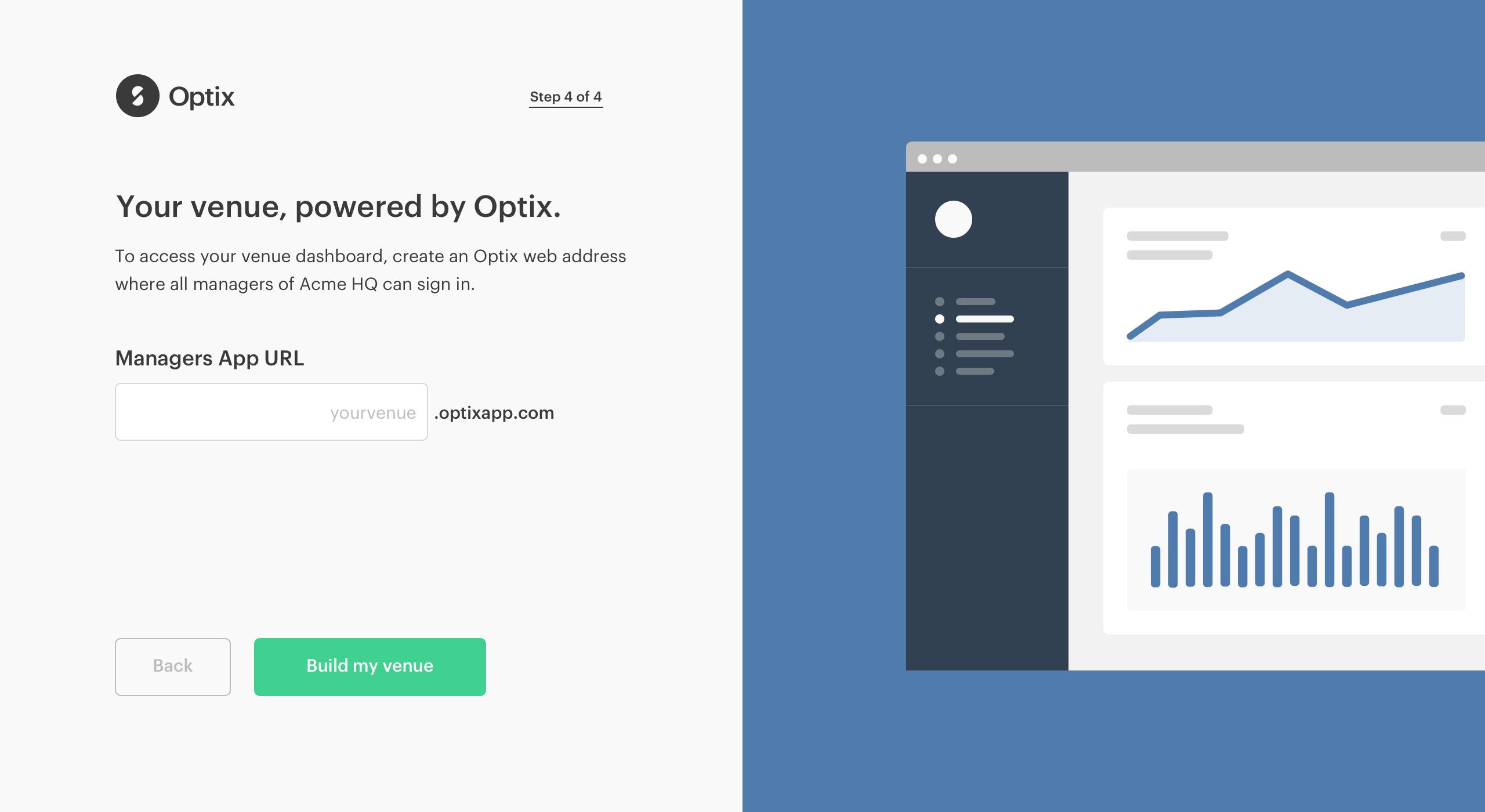 Optix onboarding - UI